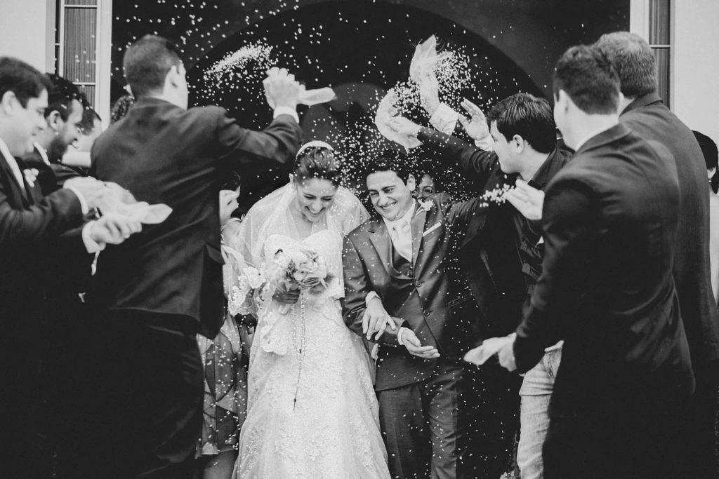 Hochzeitstradition Spalier stehen
